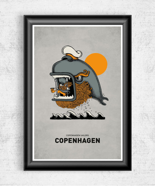 Whale Posters by Copenhagen Poster - Pixel Empire