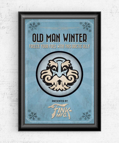 Bioshock Vigor Old Man Winter Posters- The Pixel Empire