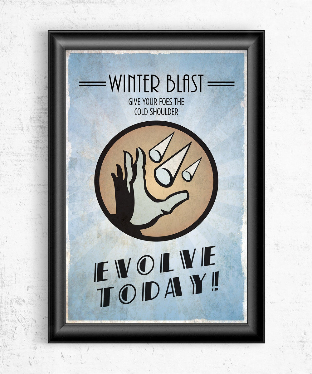 Bioshock Plasmid Winter Blast Posters by Dylan West - Pixel Empire