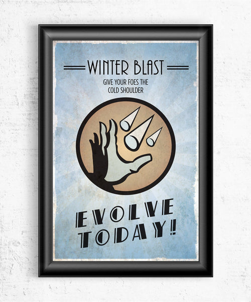 Bioshock Plasmid Winter Blast Posters- The Pixel Empire