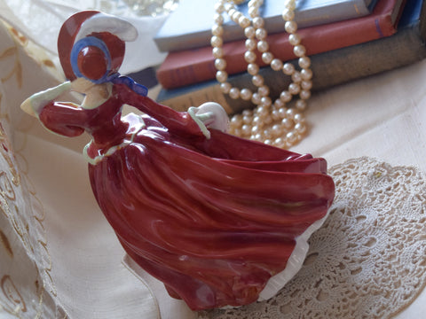"Royal Doulton Porcelain ""Autumn Breezes"" Figurine"