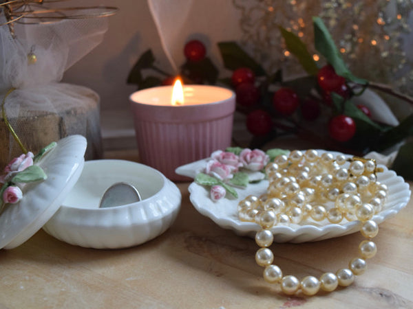 Handmade Soy Pink Candle Table Decoration