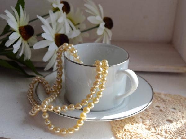 "Royal Worcester ""Platinum"" Porcelain Coffee Set"