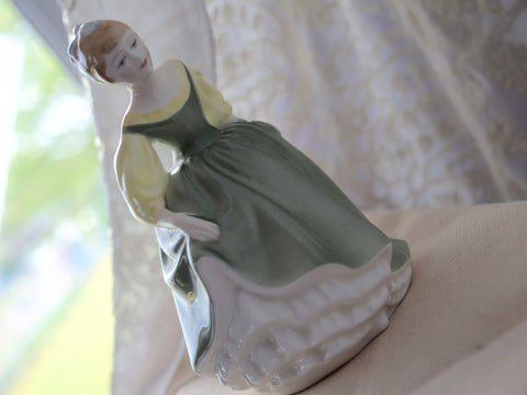 "Royal Doulton Porcelain ""Fair Maiden"" Figurine"