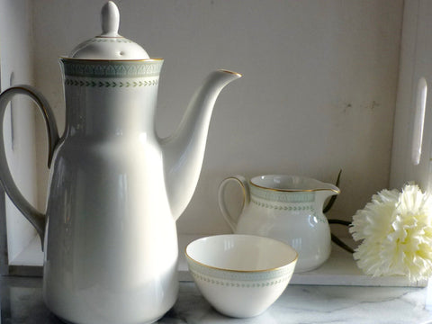 "Royal Doulton Porcelain ""Berkshire"" Coffee Set"