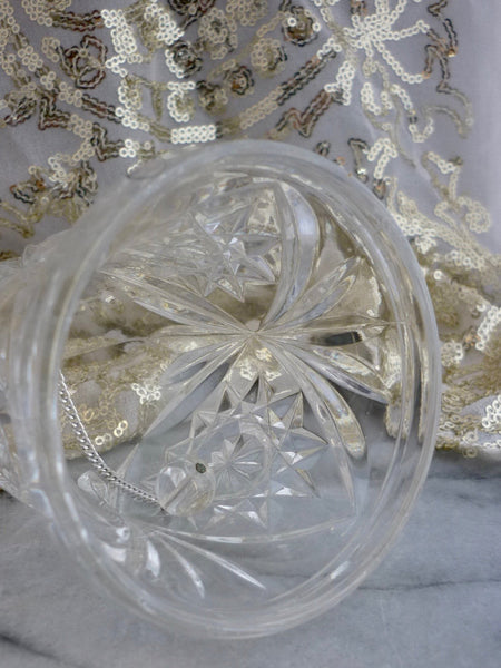 "Cut Crystal Vintage 6.5"" Bell Ornament"