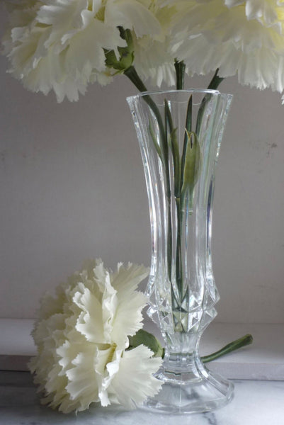 "Crystal footed 7"" Vintage Bud Vase"