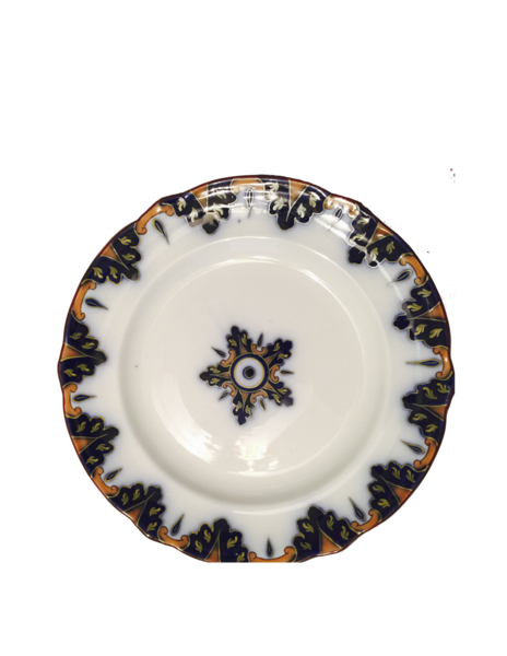 19th Cent Flow Blue Plate