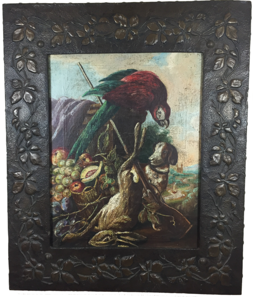SOLD - Antique Painting in Copper Frame