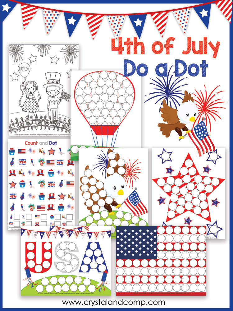 Fourth of July Do a Dot Pack