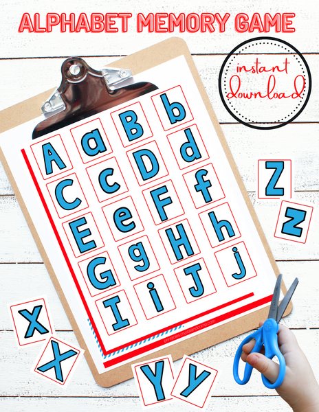 Uppercase Lowercase Alphabet Memory Game