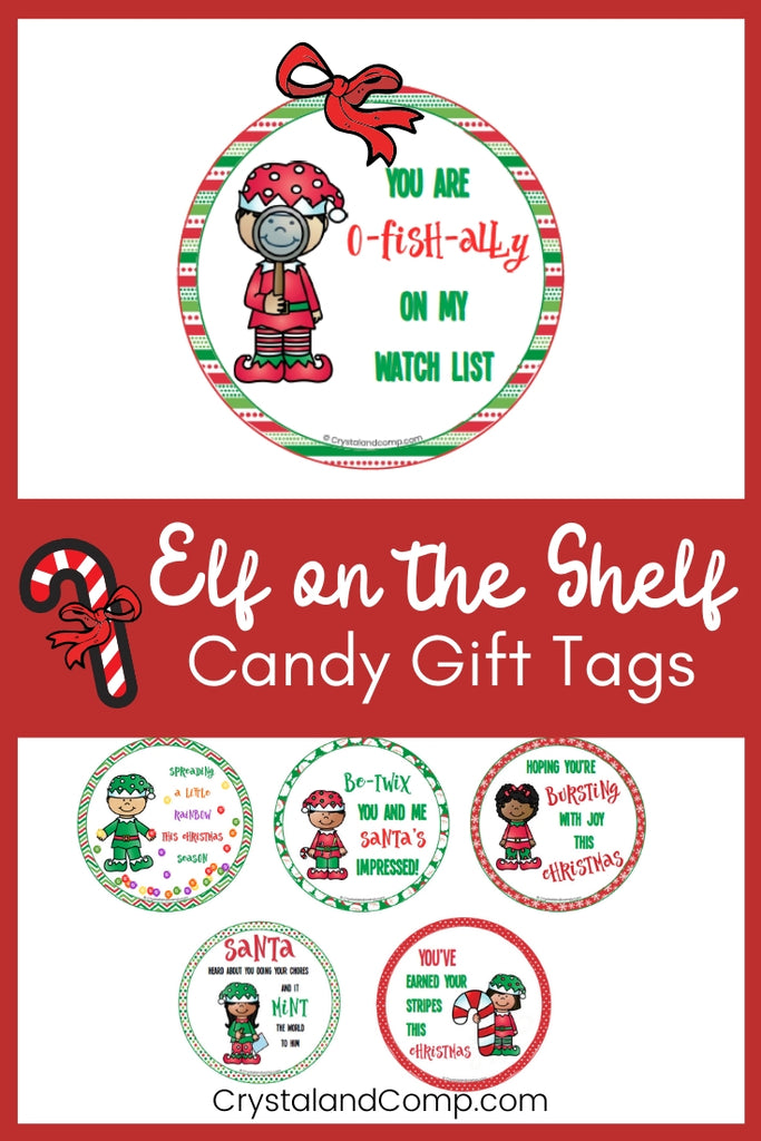 Elf Candy Gift Tags
