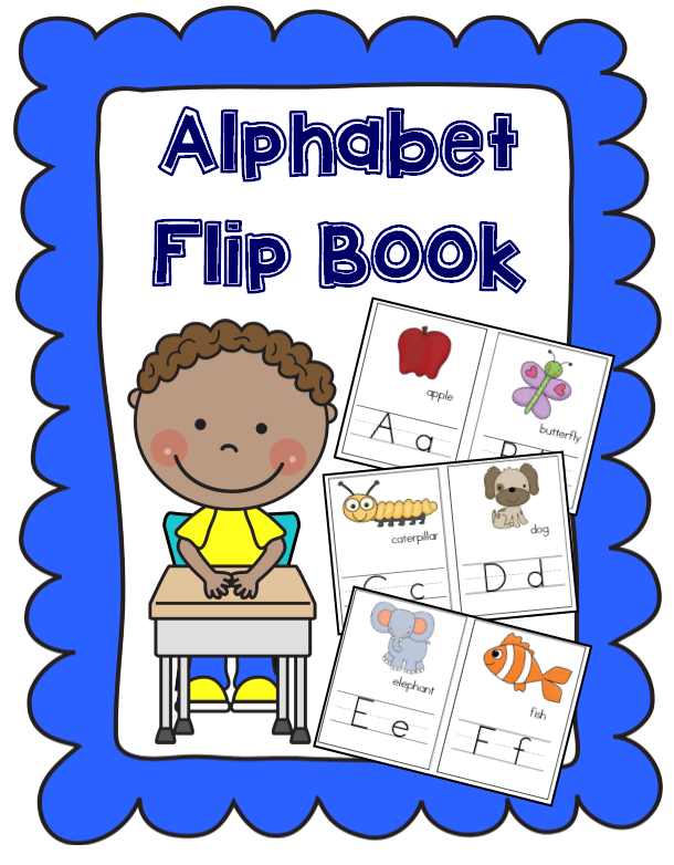 Alphabet Flip Book for Preschoolers