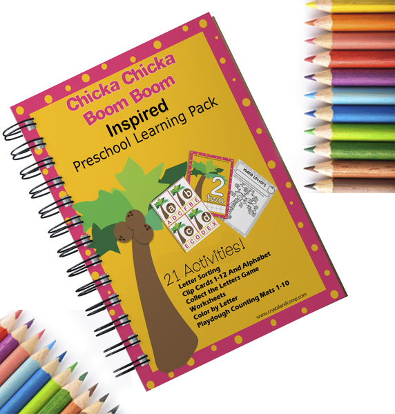 Chicka Chicka Boom Boom Pencil Grip Activities for Preschoolers
