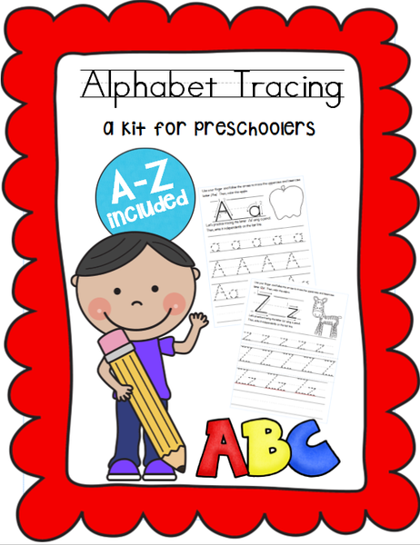 ABC Handwriting Tracing Kit for Preschoolers (Option 1)