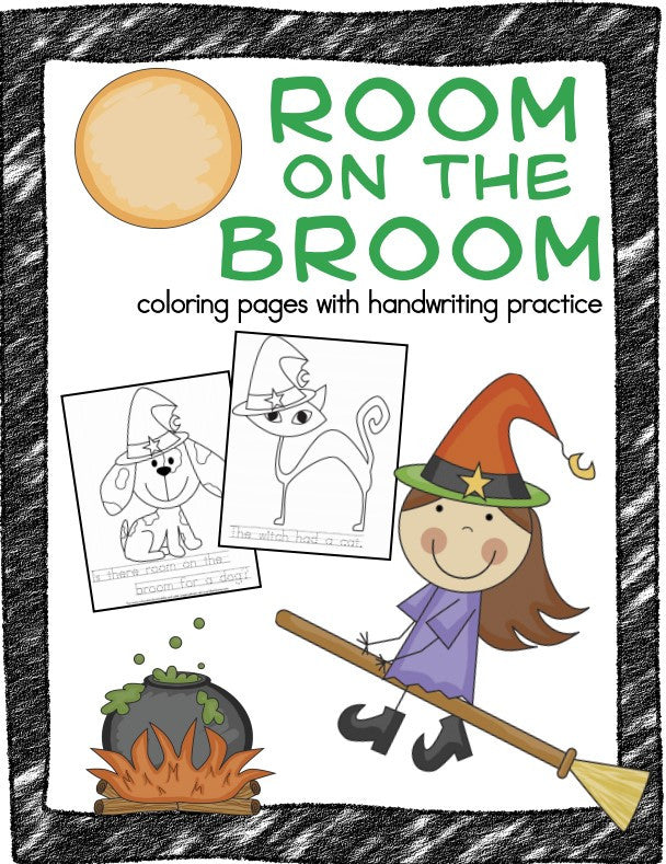 Room on the Broom Color Pages