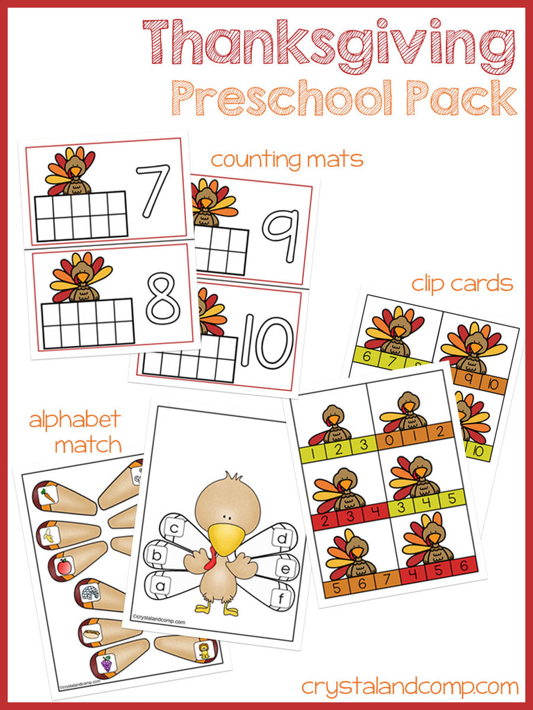 Thanksgiving Preschool Pack