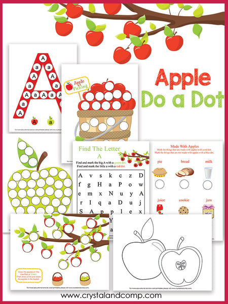 Apple Do a Dot Printable Pack