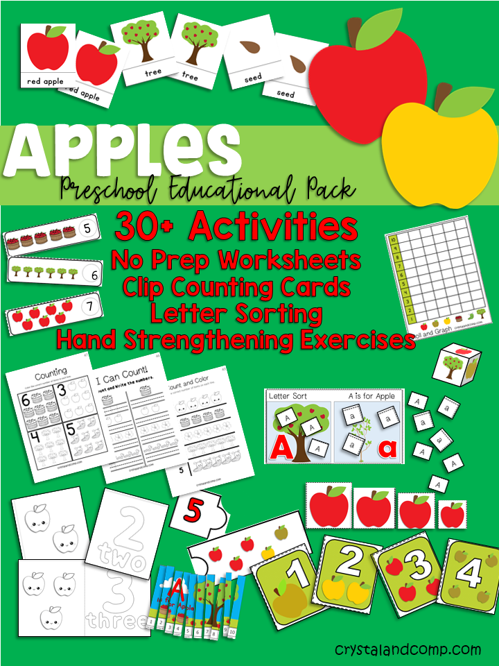 Apple Preschool Educational Pack