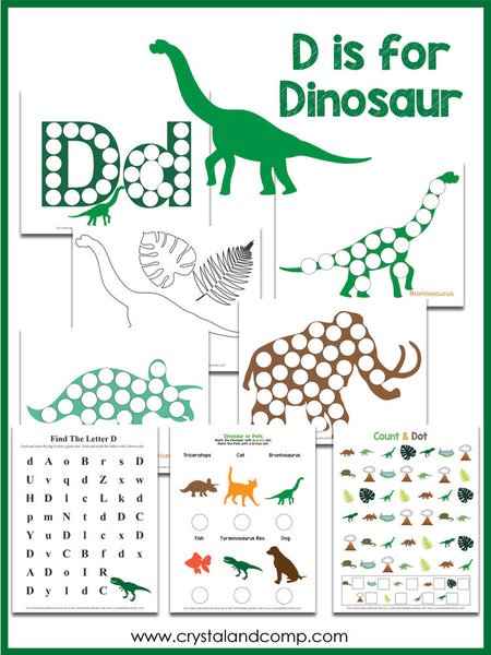 Dinosaur Do a Dot Printable Pack