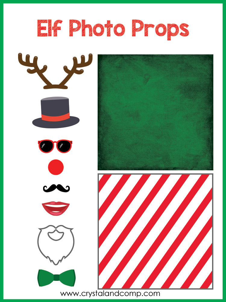 image regarding Elf on the Shelf Printable Props identify Elf upon the Shelf Picture Booth Props