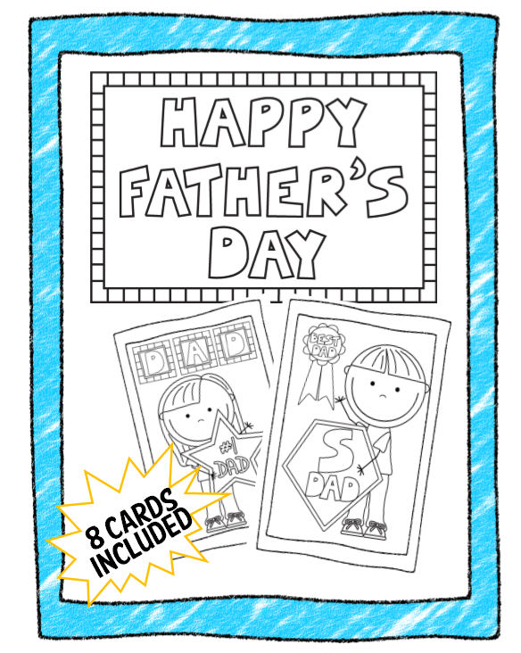 Printable Fathers Day Card Pack