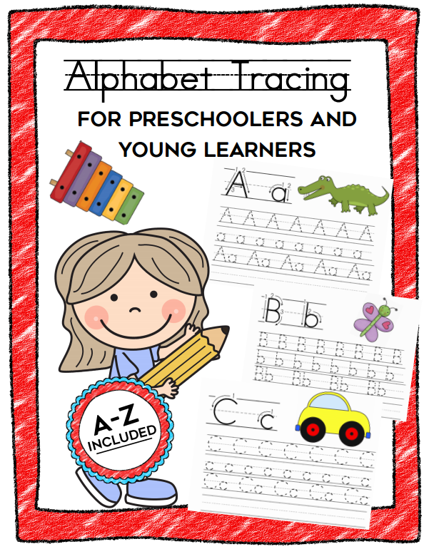 ABC Handwriting Tracing Kit for Preschoolers (Option 2)