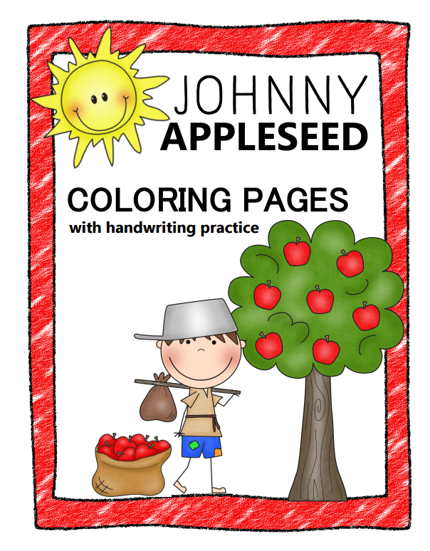 Johnny Appleseed Coloring Pages Printables