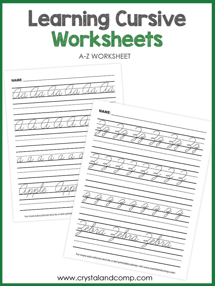 Handwriting Cursive Tracing Sheets