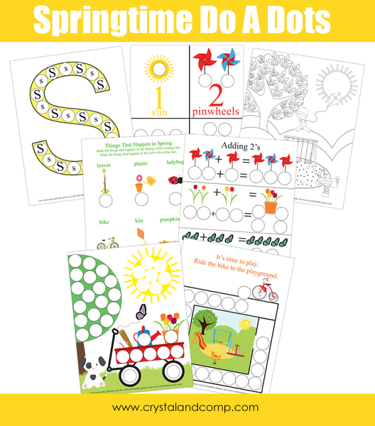 Spring Do a Dot Pack for Preschoolers