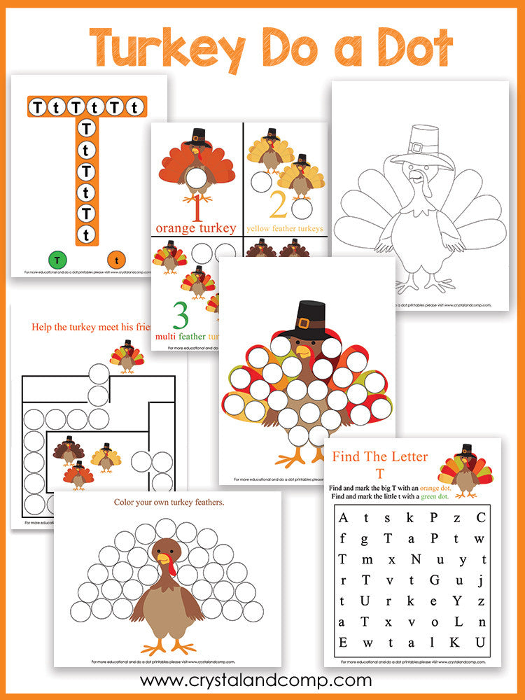 Turkey Do a Dot Printables