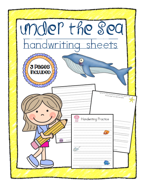Under the Sea Handwriting Sheets
