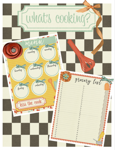 What's Cooking Menu Plan and Grocery List Pack