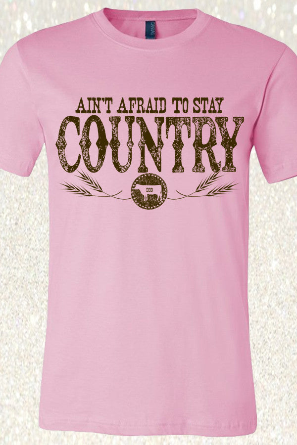 Ain't Afraid To Stay Country