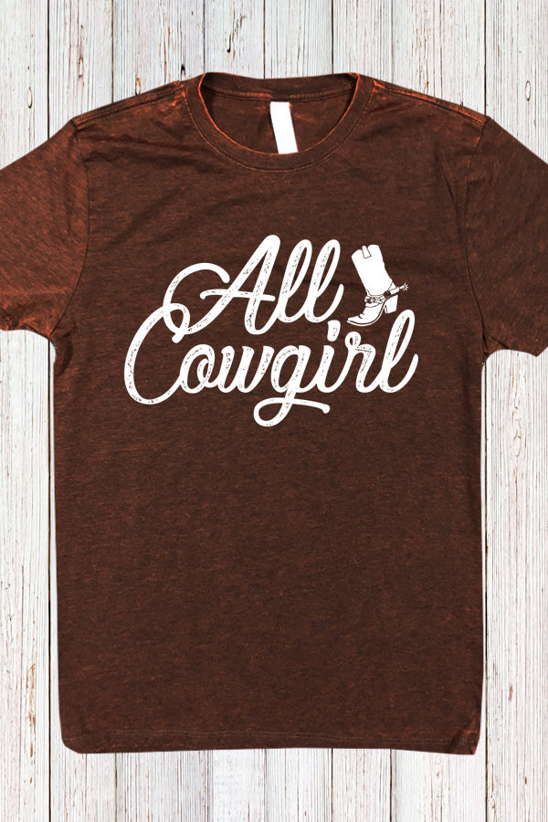 All Cowgirl Cross Dye Tee