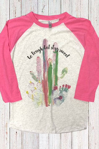 Be Tough But Stay Sweet Cactus BB Tee