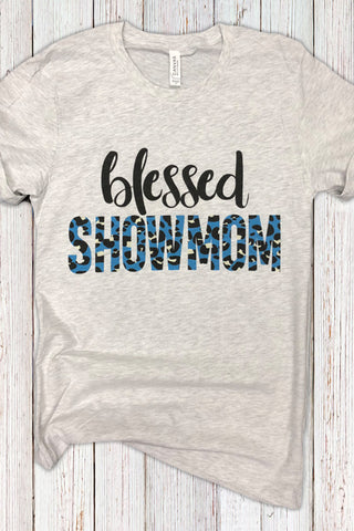 Blessed Showmom Leopard Tee