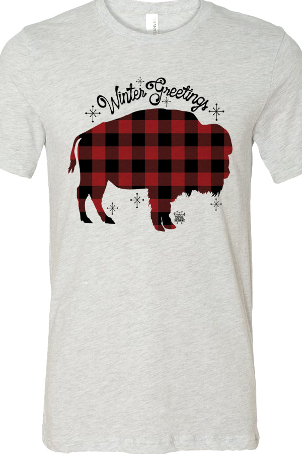 Buffalo Plaid Buffalo Winter Greetings Ash