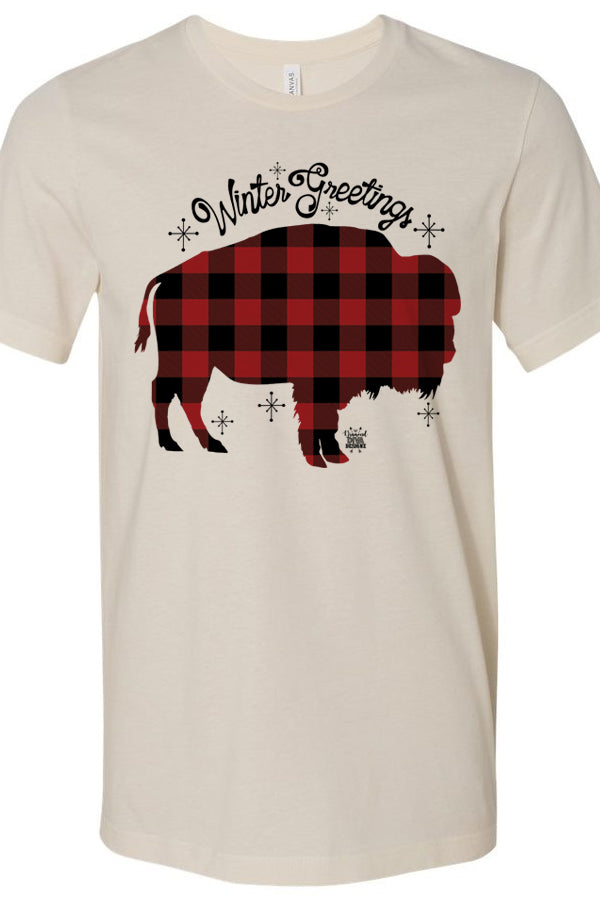 Buffalo Plaid Buffalo Winter Greetings Cream
