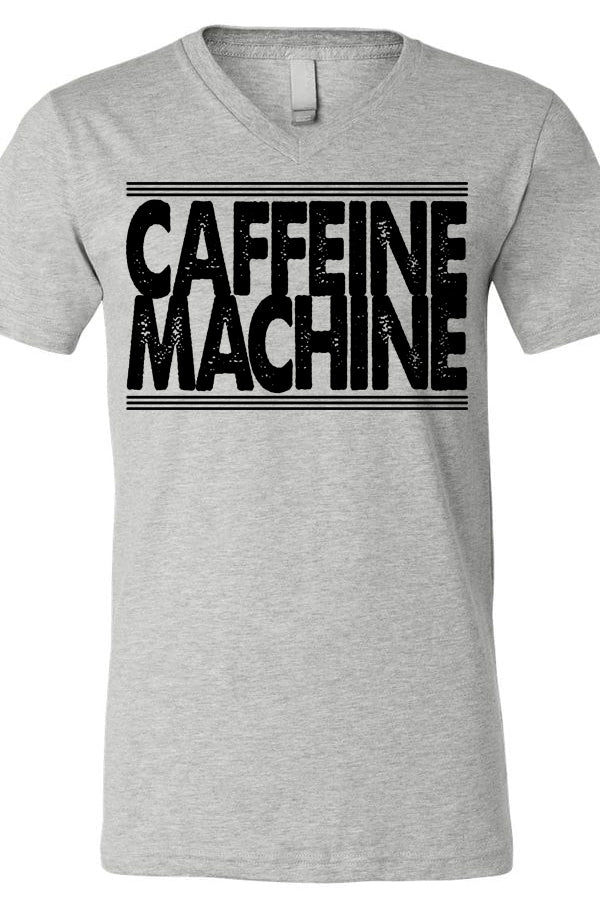 Caffeine Machine V Neck Tee