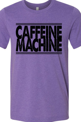 Caffeine Machine Purple Tee