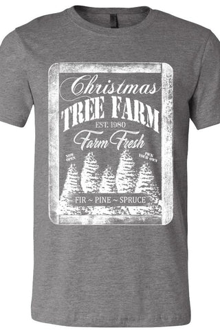 Christmas Tree Farm Deep Heather Tee