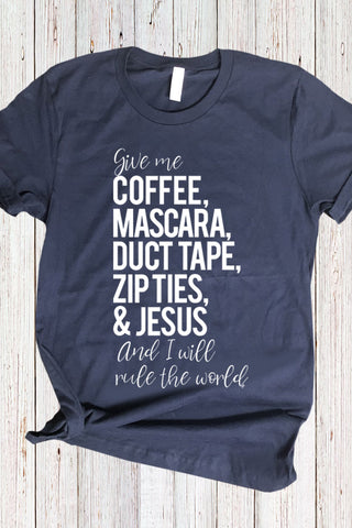 Coffee Duct Tape Jesus Tee