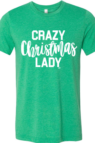 Crazy Christmas Lady Green