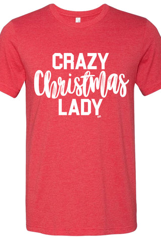 Crazy Christmas Lady Red