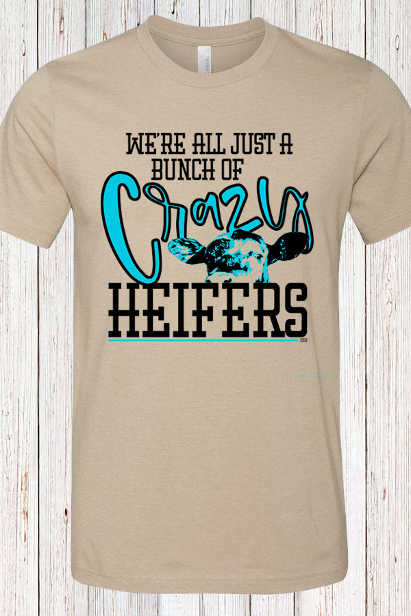 Crazy Heifers Tan Tee