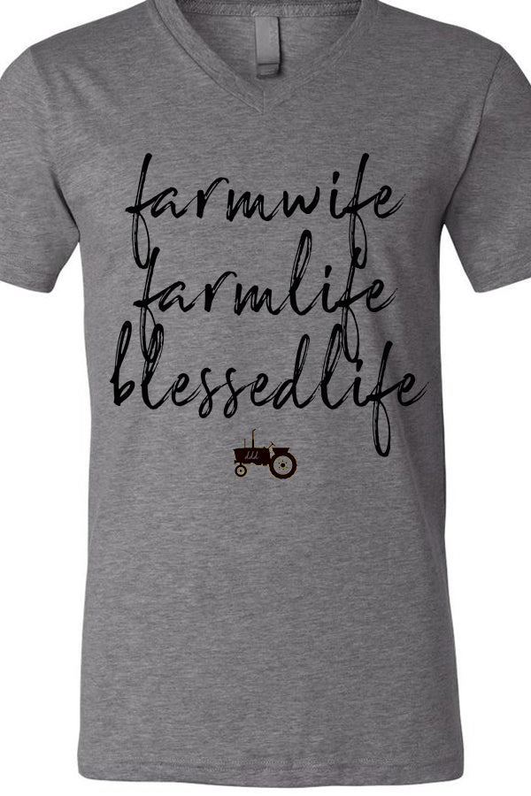 Farm Wife Farm Life V Neck