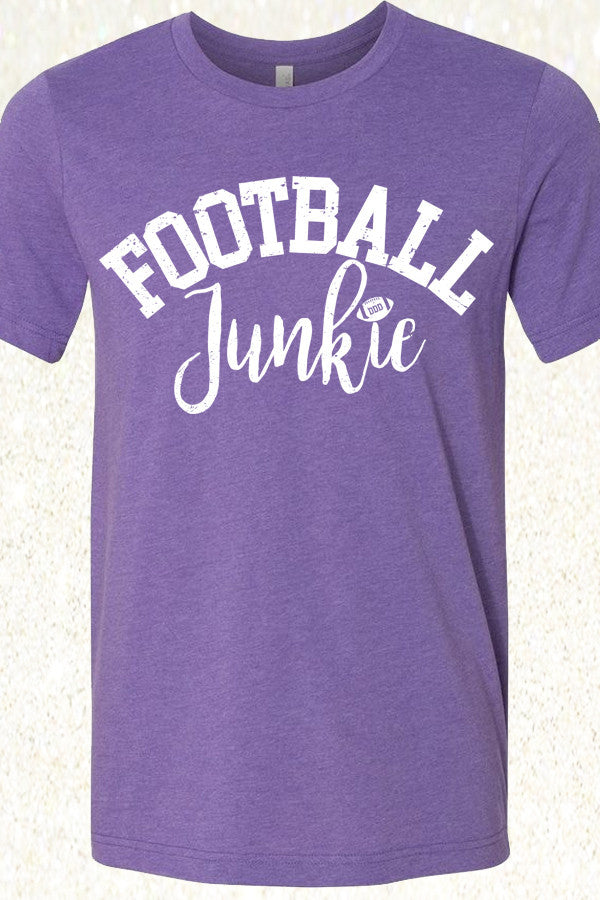 Football Junkie - Heather Purple