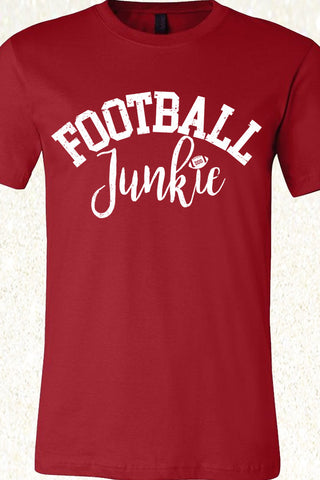 Football Junkie - Canvas Red