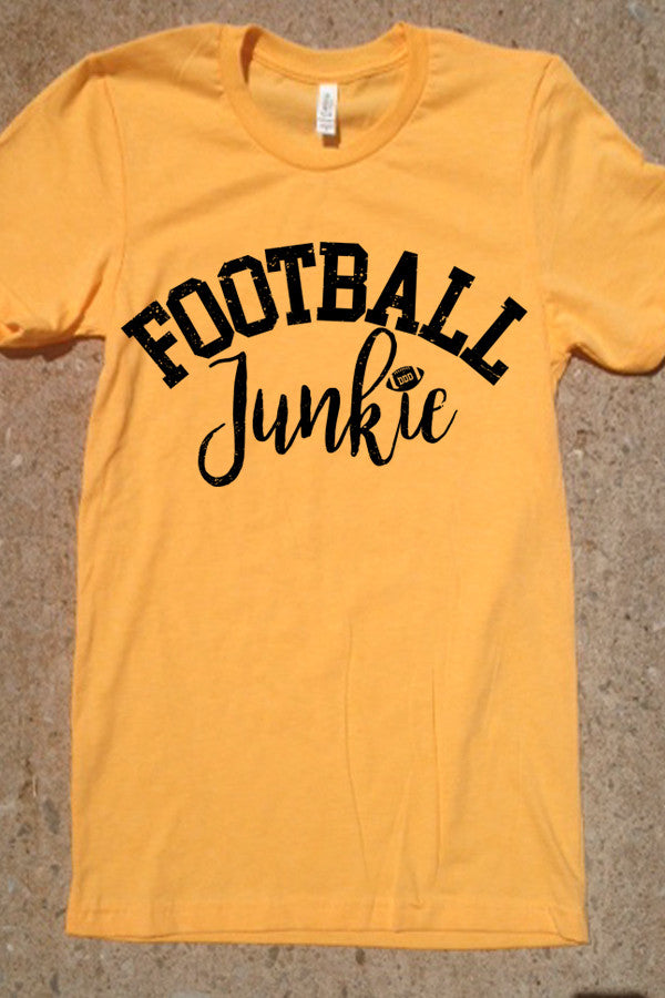 Football Junkie - Heather Yellow Gold with Black